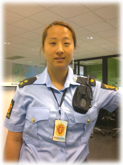 Holder for politiradio ble laget for Asker og Bærum politidistrikt.