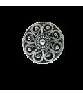 Sølv knapp oksidert